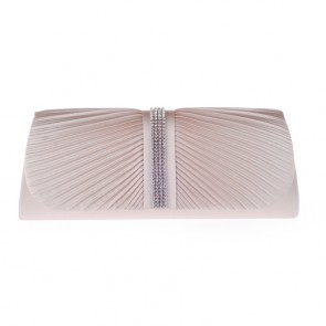 New Women's Fashion Fold Ruffle Evening Bag Diamond Party Clutch Purse