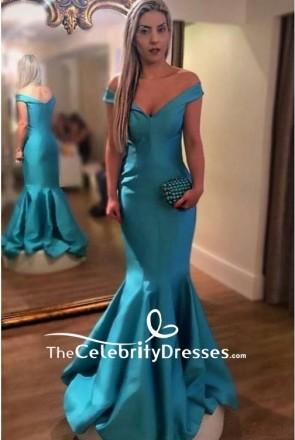 Elegant Off-the-shoulder V-neck Mermaid Formal Dress