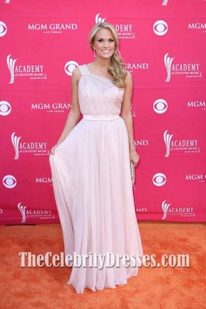 Carrie Underwood Pink Prom Dress 44th Annual Academy Of Country Music Awards