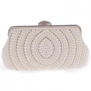 Women Fashion Pearl Evening Bag Elegant Clutch Party Handbag 6