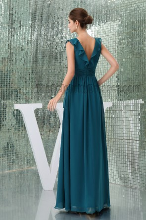 Celebrity Inspired Dark Green Formal Dress Prom Evening Gown