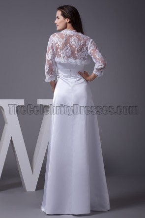 Celebrity Inspired Sweetheart A-Line Wedding Dress With A Wrap