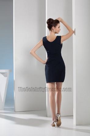 Black Short Mini Scoop Neckline Party Homecoming Dresses