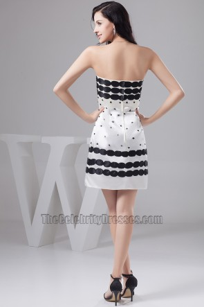 Chic Sheath/Column Strapless Cocktail Party Dresses