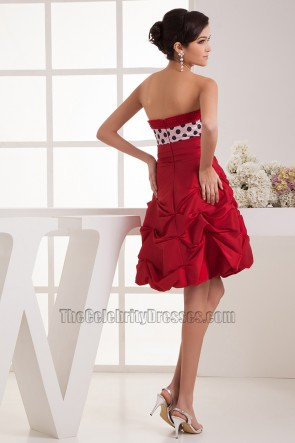 Cute Short Strapless A-Line Party Graduation Dresses