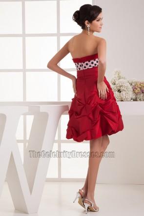 Cute Short Strapless A-Line Party Graduation Dresses