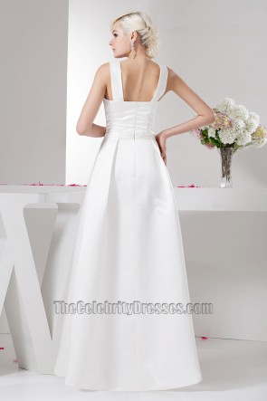 Discount Floor Length A-Line Wedding Dress Bridal Gown