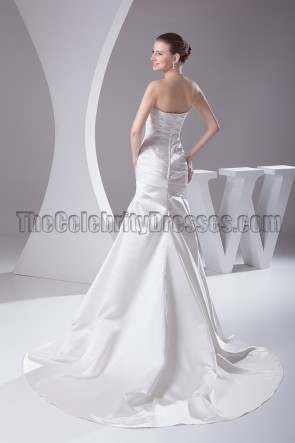 Discount Strapless Satin Mermaid Wedding Dresses