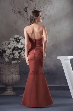 Elegant Strapless Formal Gown Mother of Bride Dresses