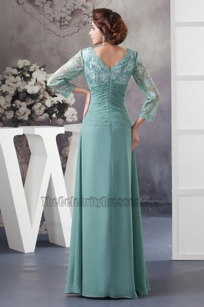 Elegant V-neck Lace Long Sleeve Formal Dress Prom Gown