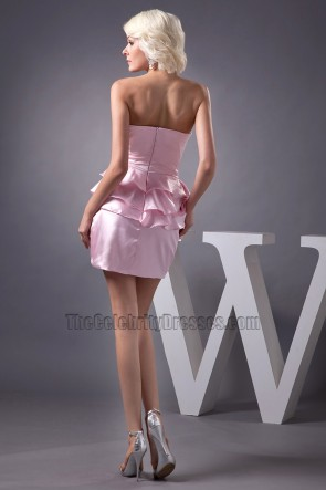 Gorgeous Short Mini Pink Strapless Homecoming Party Dresses
