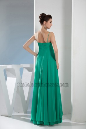 Hunter Chiffon Spaghetti Straps Prom Dress Evening Gown