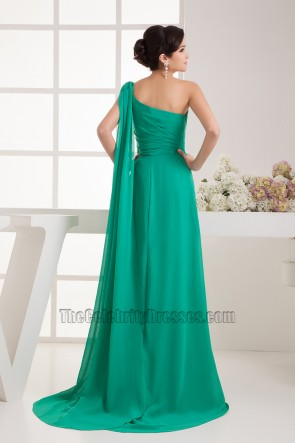 Hunter One Shoulder Chiffon Formal Gown Evening Prom Dress