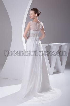 Beaded Sleeveless A-Line Bridal Gown Wedding Dresses