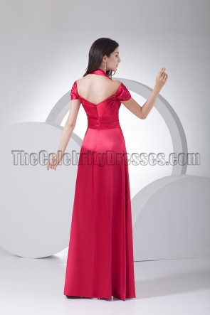 Celebrity Inspired Halter Evening Dress Formal Gowns