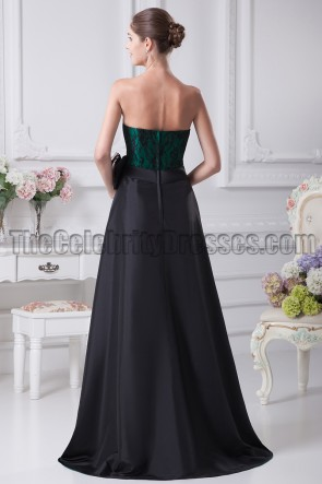 New Style Strapless High Low Prom Gown Evening Dresses