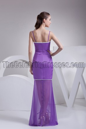 Purple Organza Mermaid Formal Evening Dresses