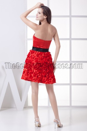 Red Strapless Sweetheart Party Homecoming Graduation Dresses
