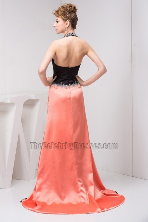 Sexy Halter A-Line Formal Gown Prom Evening Dresses