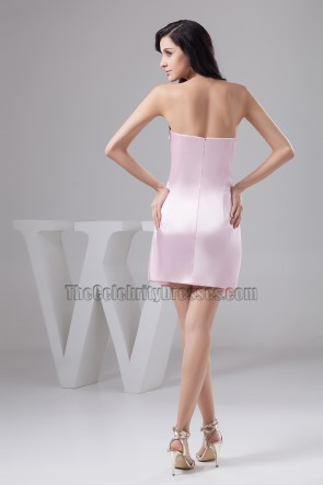 Short Mini Pink Strapless Sweetheart Party Homecoming Dresses