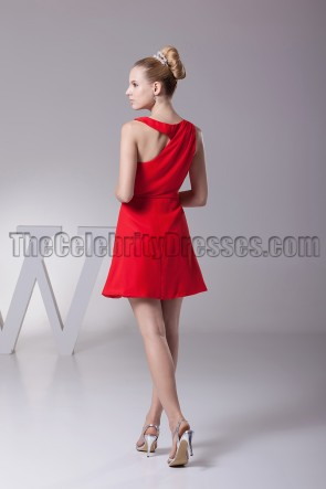 Short Mini Red Party Homecoming Graduation Dresses
