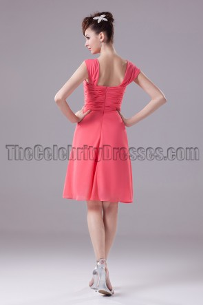 Short Watermelon Homecoming Party Graduation Dresses