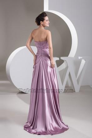Elegant Strapless Bridesmaid Formal Dresses Prom Gowns