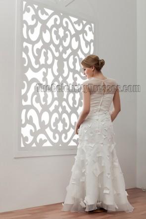 Unique Floor Length V-Neck Wedding Dresses Bridal Gowns