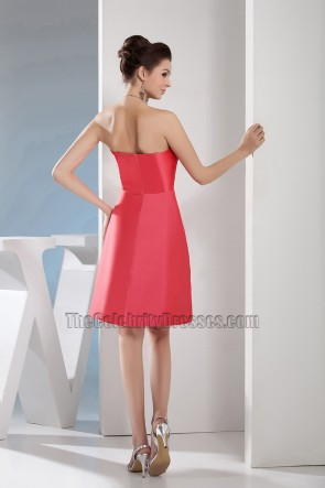 Watermelon Sweetheart Short Party Bridesmaid Homecoming Dresses
