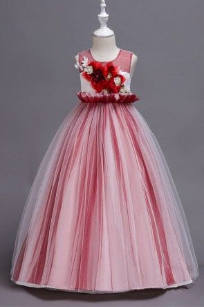 A-line Applique Junior Bridesmaid Dress