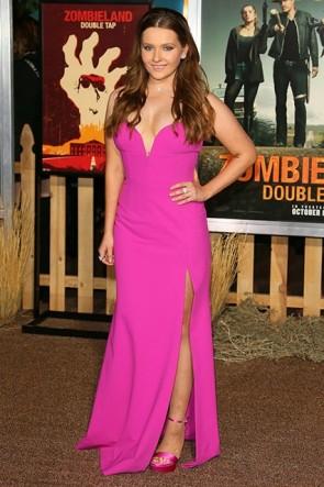 Abigail Breslin Strapless Slit Prom Dress Zombieland Double Tap