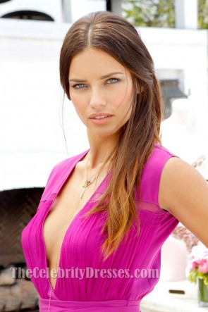 Adriana Lima Fuchsia Prom Dress Victoria's Secret Eighth Annual