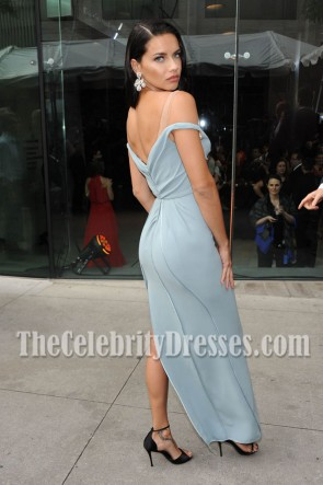 Adriana Lima Off-the-shoulder Backless Evening Prom Gown 2016 Fragrance Foundation Awards TCD7079