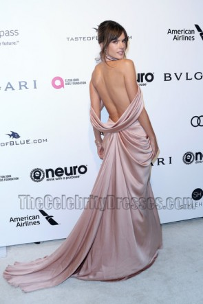 Alessandra Ambrosio Evening Dress 25th Annual Elton John AIDS Foundation's Academy Awards  TCD7177