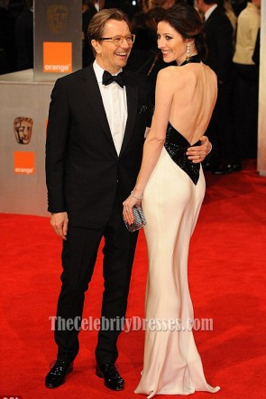 Alexandra Edenborough Halter Evening Dress BAFTA Awards Red Carpet
