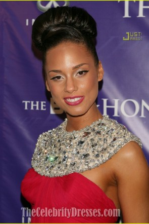 Alicia Keys Red Evening Dress BET Honors 2008 Awards Red Carpet Celebrity Gowns