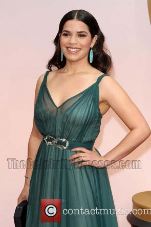America Ferrera Red Carpet Evening Dress 2015 Oscars TCD6052