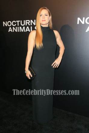 Amy Adams Black Evening Prom Gown Nocturnal Animals 2016  3
