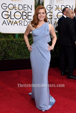 Amy Adams One Shoulder Formal Dress GOLDEN GLOBES 2015 RED CARPET