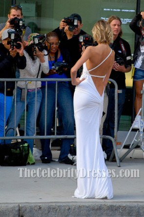 Anja Rubik Sexy Evening Dress 2009 CFDA Awards Celebrity Gowns
