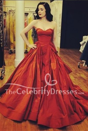 Dita Von Teese Red Strapless Sweetheart Evening Gown Formal Prom Dress TCD8199
