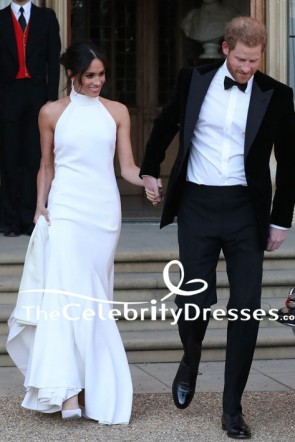 Meghan Markle Duchess of Sussex Royal Wedding Reception Dress Informal Wedding Gown TCD7875