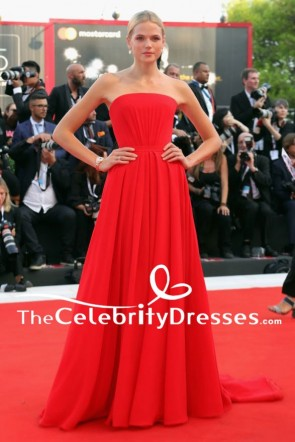 Gabriella Wilde Red Evening Dress 2018 Venice Film Festival Opening Ceremony Gown TCD8018