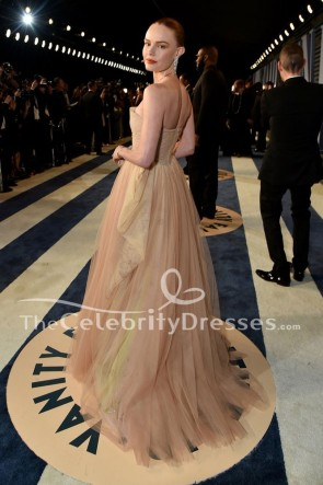 Kate Bosworth Champagne Strapless Formal Gown 2018 Oscar Party Dress TCD7784