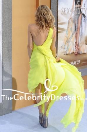 Sarah Jessica Parker Yellow Evening Dress