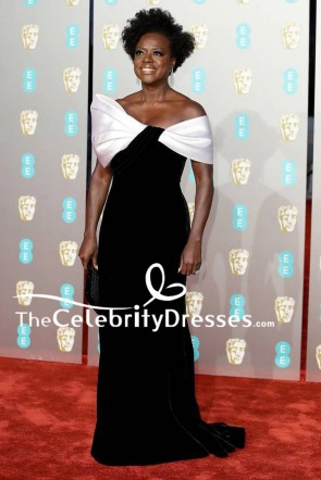 Viola Davis Elegant Formal Evening Dress BAFTA Awards 2019 TCD8294