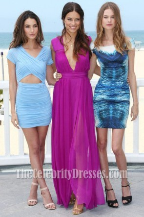 Adriana Lima Fuchsia Prom Dress Victoria's Secret Eighth Annual