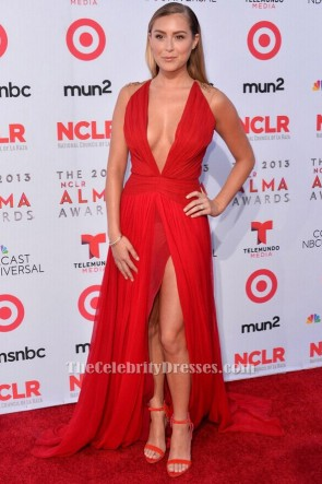 Alexa Vega Sexy Red Evening Dress 2013 NCLA ALMA Awards Red Carpet TCD6211