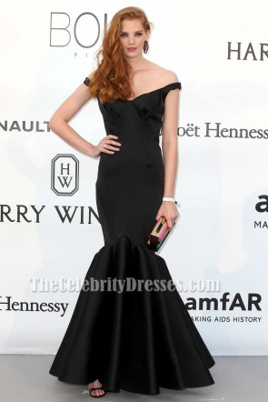 Alexina Graham Black Mermaid Formal Dress amfAR's 23rd Cinema Against AIDS Gala TCD6875