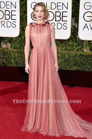 Amber Heard 73rd Annual Golden Globe Awards Red Carpet Formal Dress TCD6520